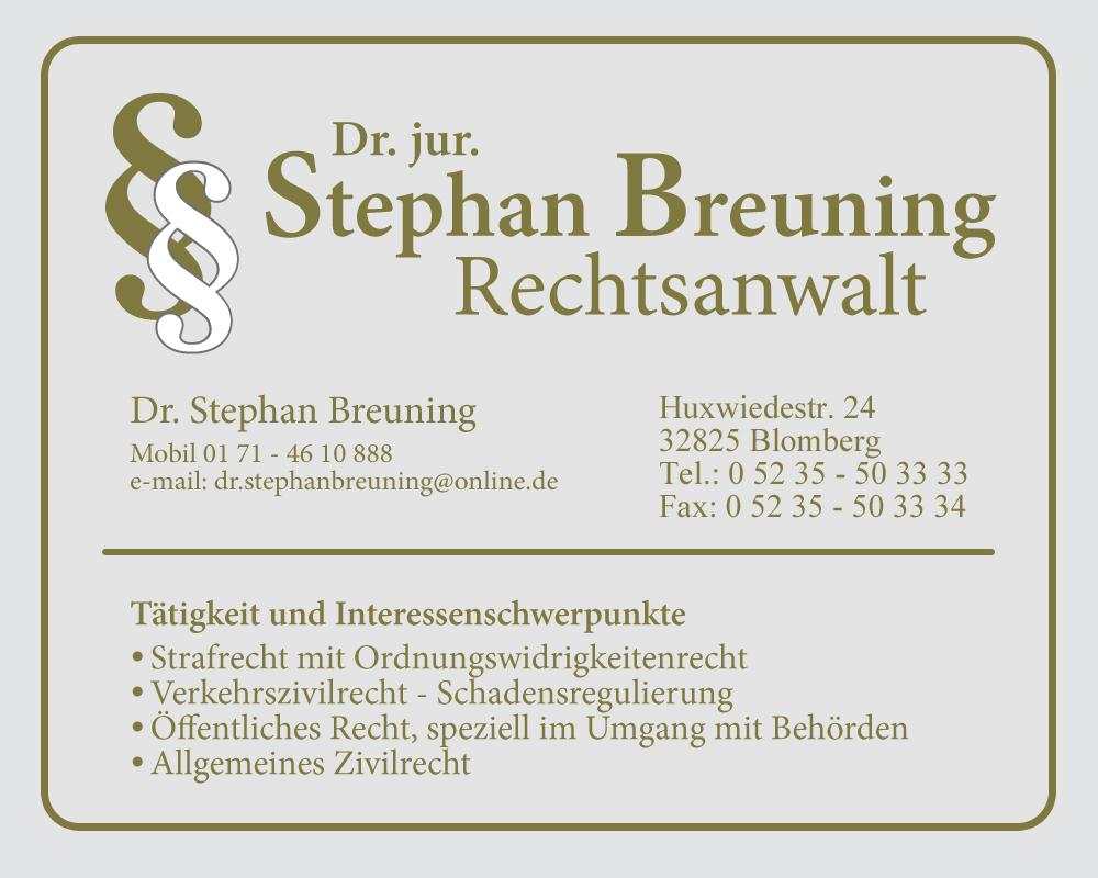 Rechtsanwaltskanzlei Dr Stephan Breuning